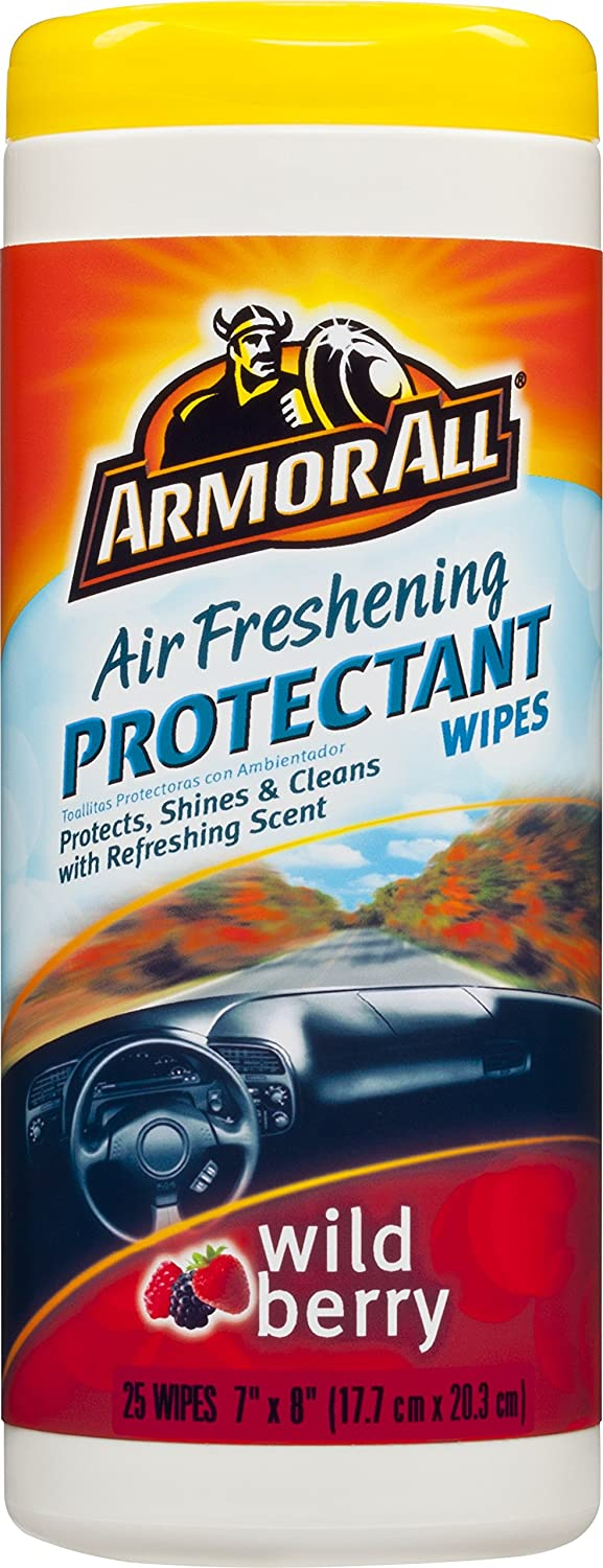 Amazon.com: Armor All Air Freshening Protectant Wipes - Wild Berry (25 count): Automotive