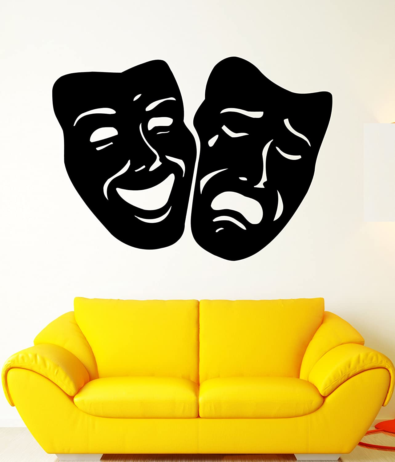 Amazon.com: Masks Comedy and Tragedy Theater Decor Wall Mural Vinyl ...