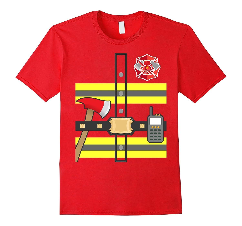 Kids Fireman Shirt - Firefighter Halloween Costume-T-Shirt