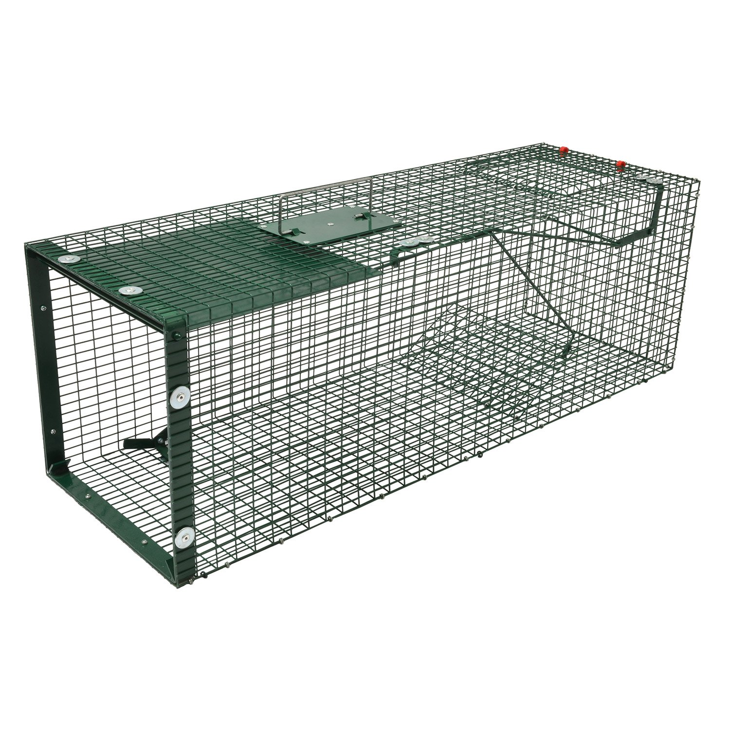 Moorland Stable Wire Cage Animal Trap 5002 Humane Live Trapping of Feral Cat Marten Mink Fox, 90 x 30 x 30 cm