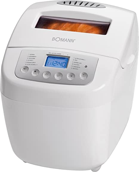 Bomann BBA 5002 CB, Blanco, 600 W - Máquina de hacer pan