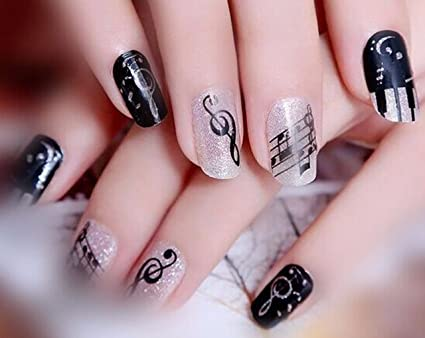 Music Note Nail Art Stickers Water Transfer Decals Decorations - Amazon.com: Music Note Nail Art Stickers Water Transfer Decals
