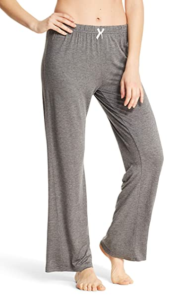 67da2f7d28 Kathy Ireland Womens Straight Leg Elastic Waist Lounge Pajama Sleep Pants  Charcoal Heather Small