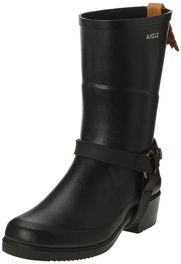 Womens Miss Julie Gummistiefel Rubber Boots, Black (Noir 9), 2.5 UK Aigle