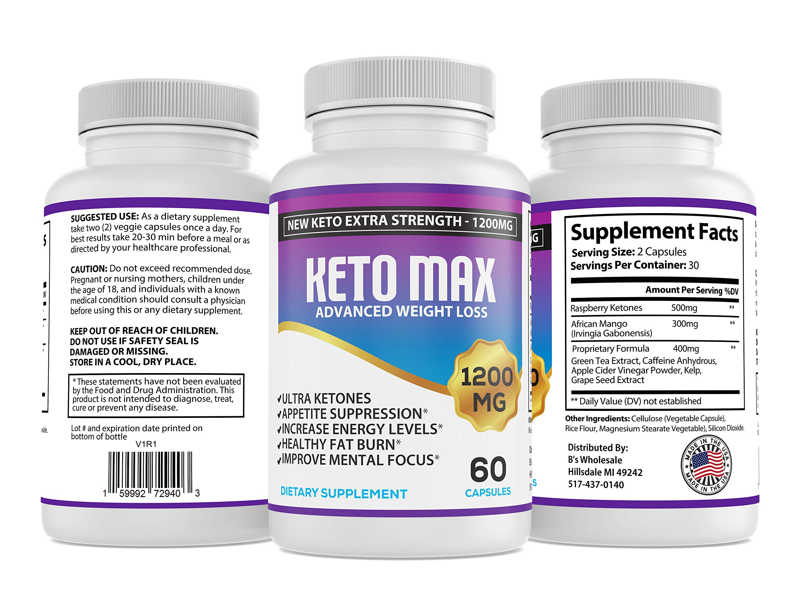 Keto Diet Pills - (1200mg 90 Day Supply) Weight Loss Fat Burner for Women & Men, Perfect Exogenous Ketones Supplement Burners by Keto Extra Strength 1200 (Image #4)