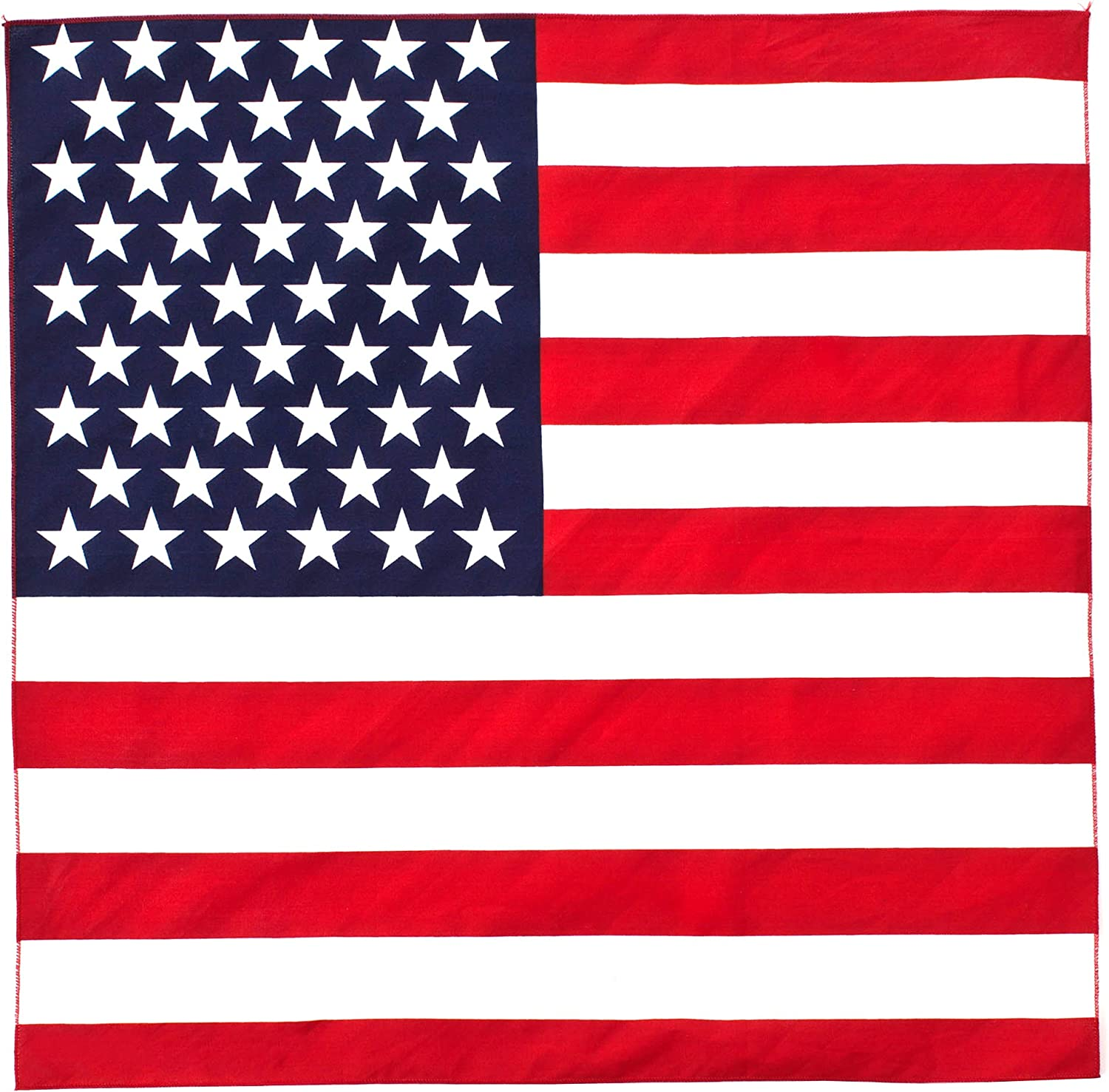 100/% Cotton American Flag Bandanna Head Wrap Scarf Fourth Of July Party
