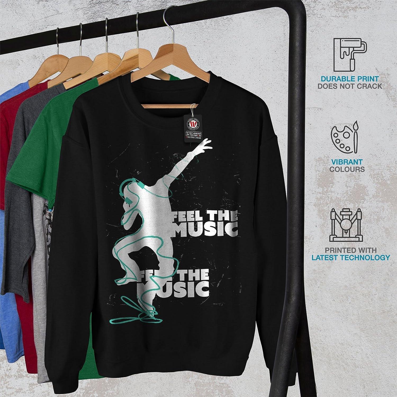 Headphone Casual Jumper wellcoda Club Dj Song Dance Mens Sweatshirt