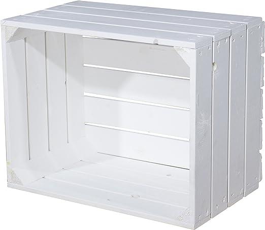 Vintage-Möbel24 GmbH - Caja de madera, 50 x 40 x 30 cm, color blanco: Amazon.es: Hogar