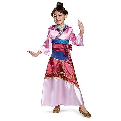 Mulan Deluxe Costume, Pink, Medium (7-8): Toys & Games