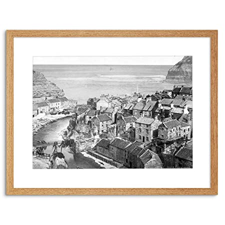 Wee Blue Coo VINTAGE PHOTO WHITBY STAITHES YORKSHIRE ENGLAND FRAMED ...