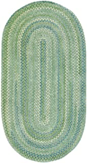 """product image for Capel Waterway Green 11' 4"""" x 14' 4"""" Oval Braided Rug"""