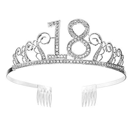 Tiara Cumpleaños Corona 18TH con Peine Artículos de Fiesta y ...