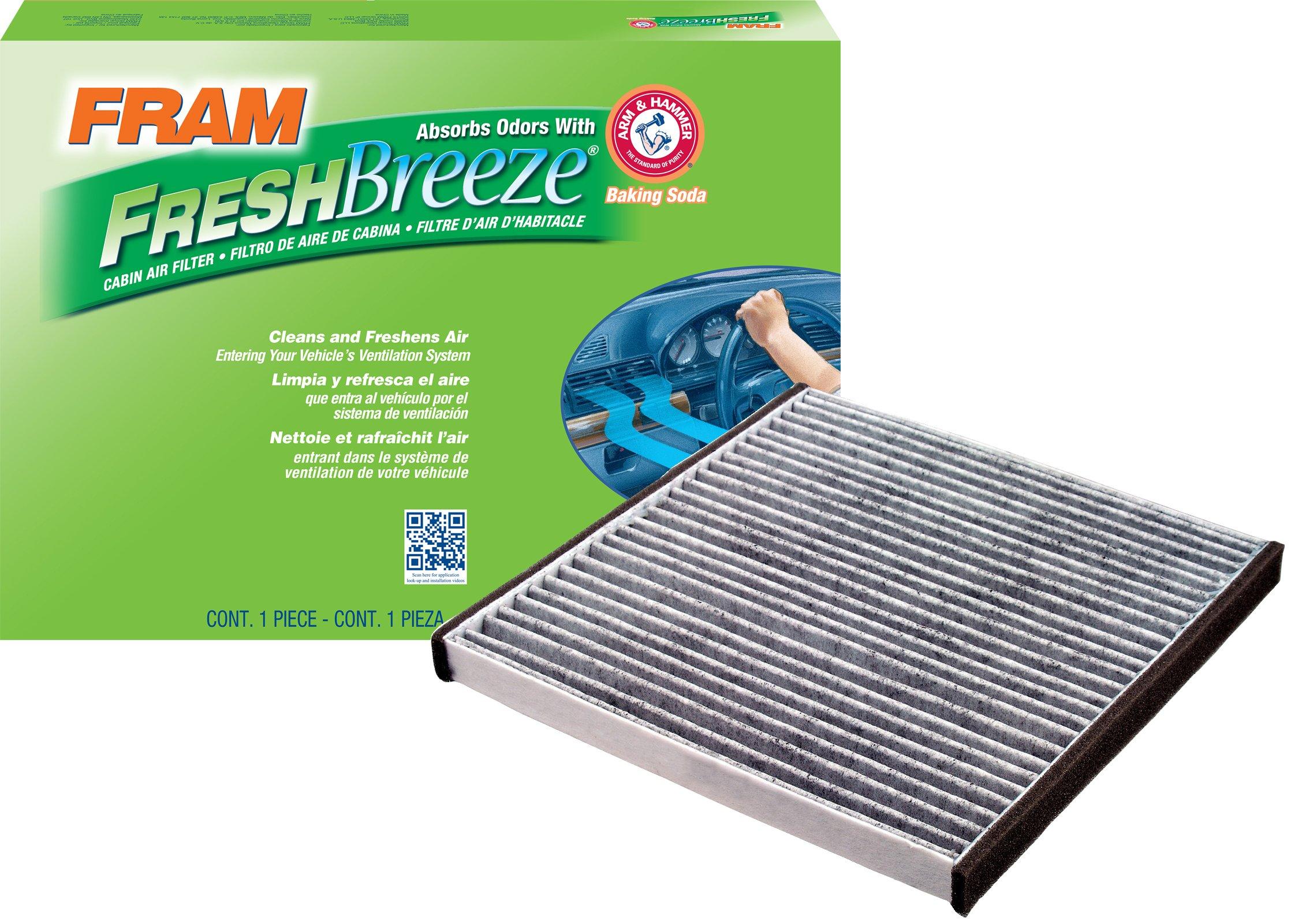 FRAM CF10132 Fresh Breeze Cabin Air Filter with Arm & Hammer