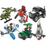 Gimpo City Series Creative Building Blocks Bricks Toys Kits Set (307 Pieces Pack of 6) (Compatible LEGO)