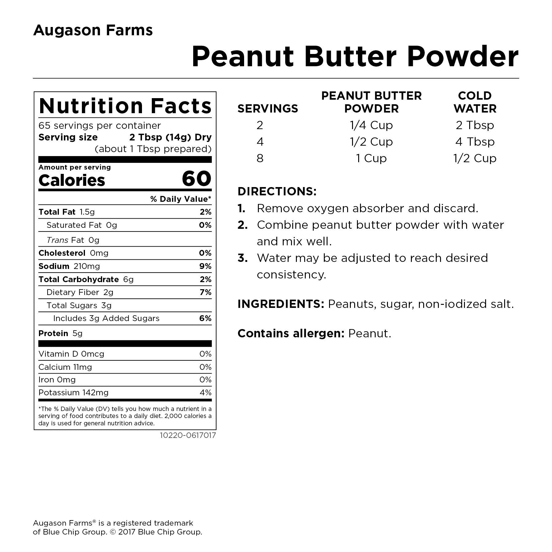 Augason Farms Peanut Butter Powder 2 lbs No. 10 Can by Augason Farms (Image #3)