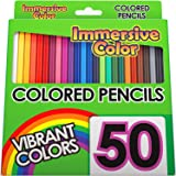 Immersive Color 50 Piece Pre-Sharpened Colored Pencil Set