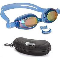 BEZZEE PRO Niños Gafas de Natación - UV Protegido Espejo Gafas - Lente de Color Recubierto con Estuche de Almacenamiento…