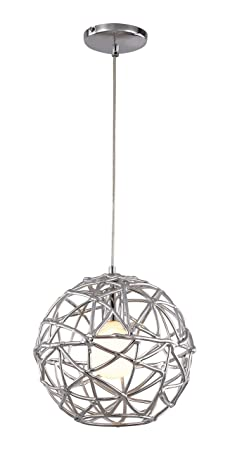 Trans Globe Lighting PND-966 Indoor Space 12 Pendant, Polished Chrome