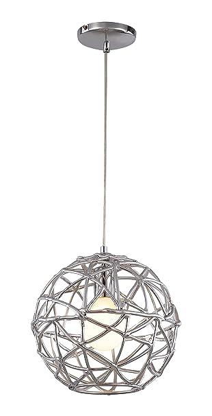 Trans Globe Lighting PND 966 Indoor Space 12u0026quot; Pendant, Polished Chrome