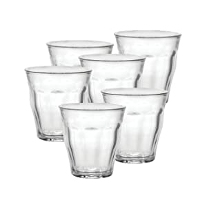 Duralex 25 cl Picardie Tumbler, Pack of 6, Clear Glass.