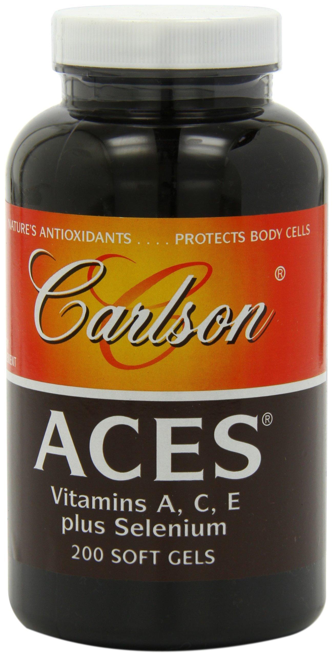 Carlson Aces Antioxidant Formula, 200 Softgels