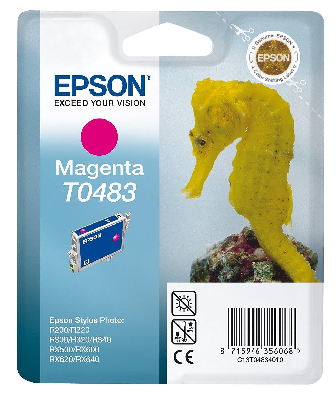 Epson T0483 Serbatoio Inchiostro, Colore Magenta C13T04834020 Consumabili stampanti InkJet Cartucce Nastri
