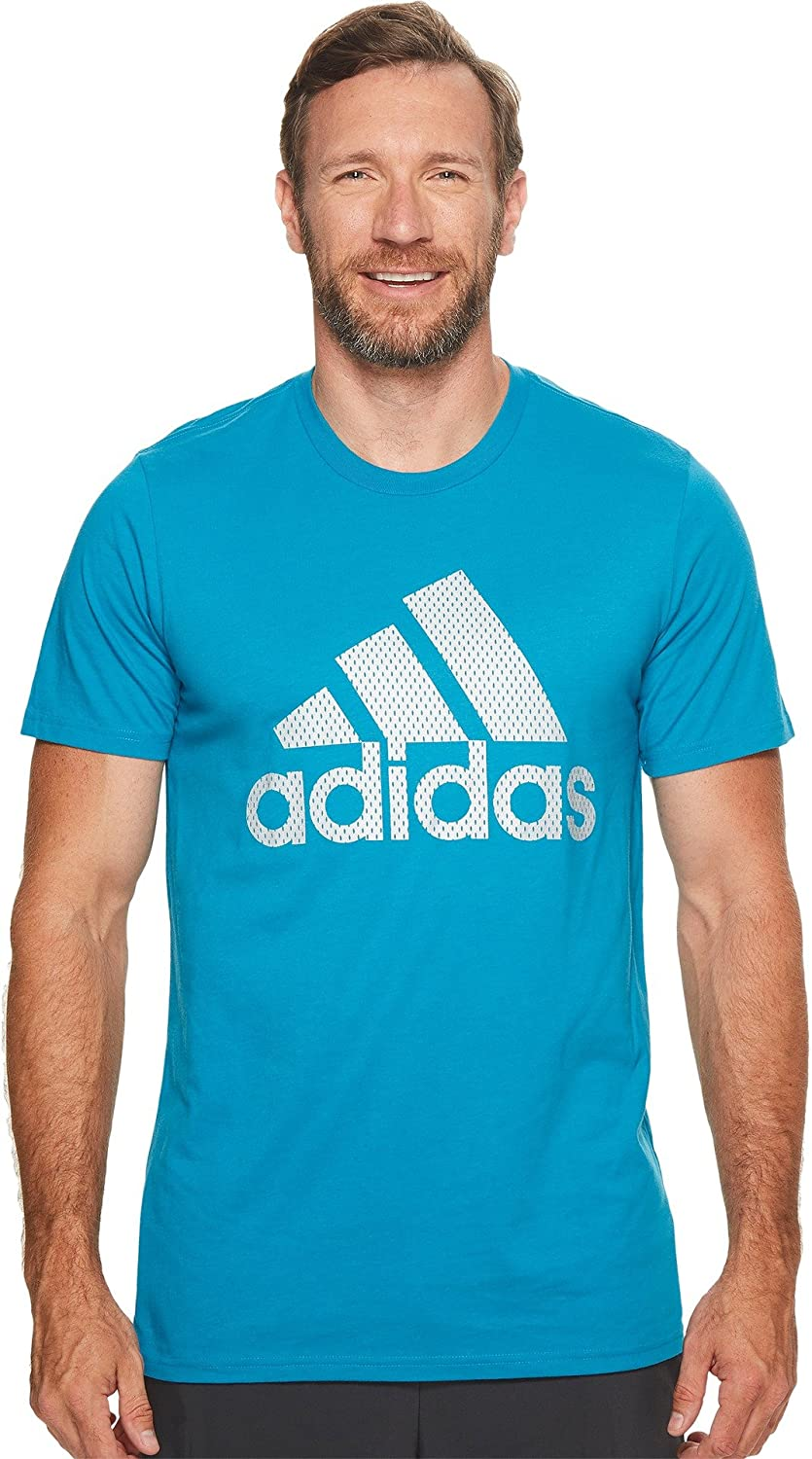 adidas Mens Big & Tall Badge of Sport Metal Mesh Tee free shipping