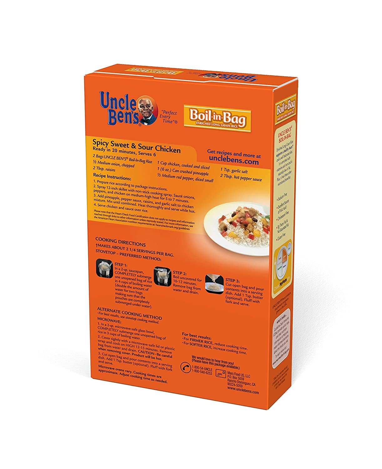 Amazon Uncle Bens Boil In Bag Rice 158 Oz Grocery