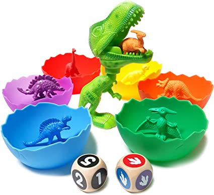 New Tub of 64 dinosaurs Counting Dinosaurs