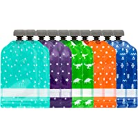 Simple Modern Reusable Food Pouches 10-Pack 5oz - Baby Food Storage Toddler Kids Squeezable Pouch Washable Freezer Safe…