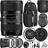 Sigma 18-35mm F1.8 Art DC HSM Lens for Canon DSLR Cameras w/Sigma USB Dock & Advanced Photo and Travel Bundle
