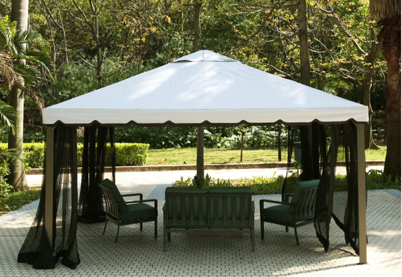 CRAVOG 10 x 14 pies Totalmente Cerrada jardín Gazebo toldo Patio Pavilion Parasol cenador: Amazon.es: Jardín