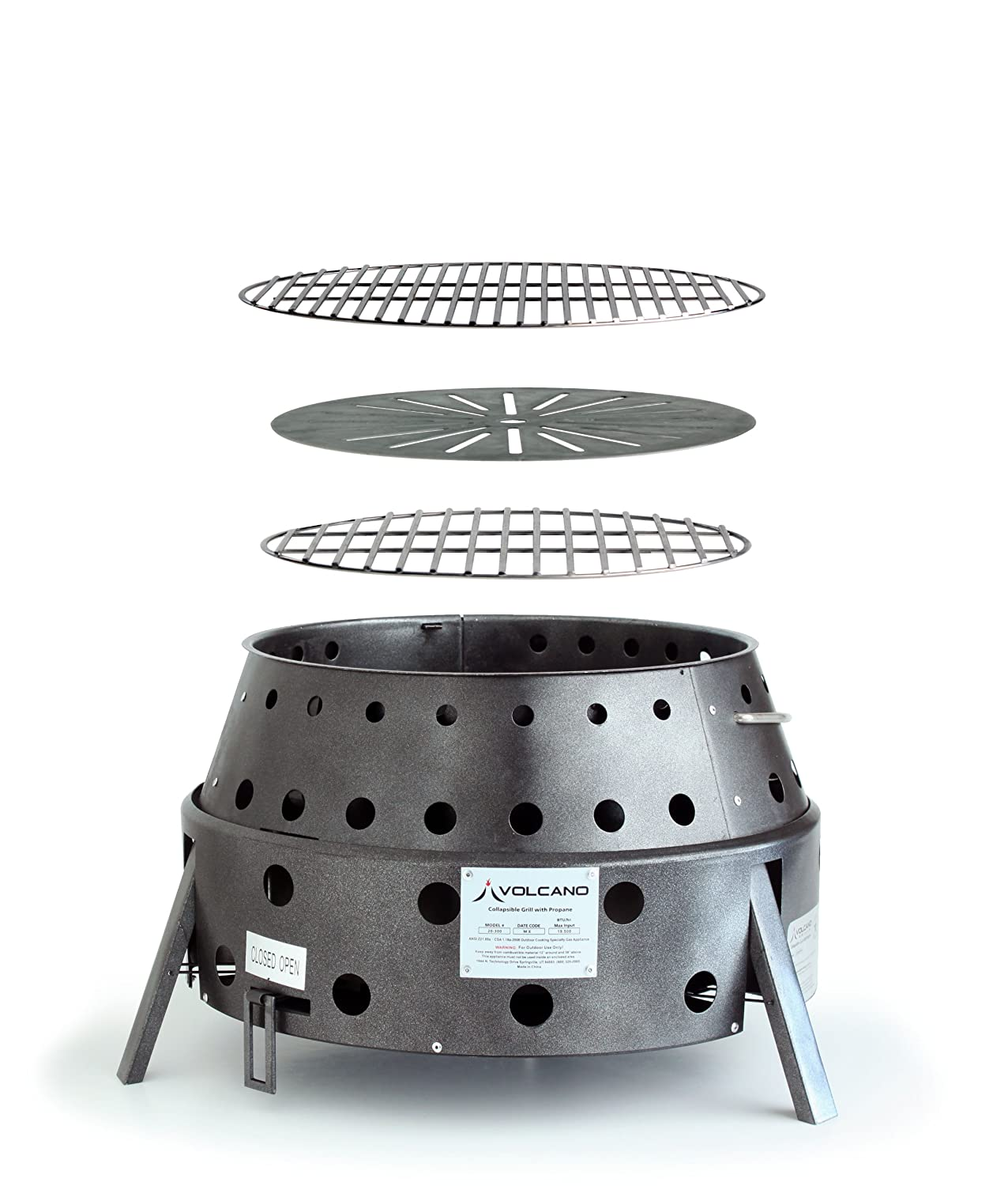 Volcano Grills 2 Fuel Charcoal Wood Collapsible Stove