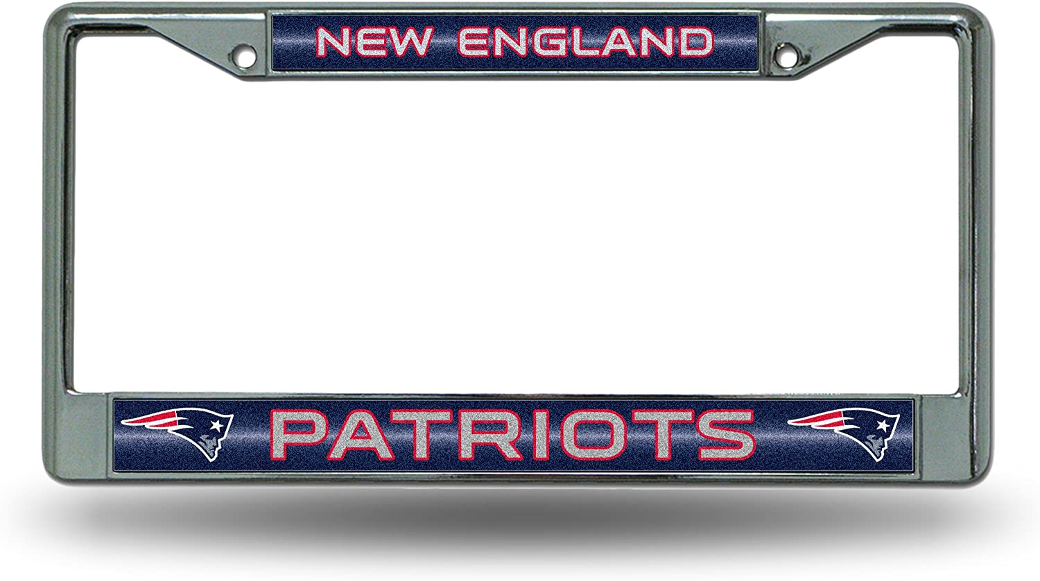NFL Bling Chrome License Plate Frame with Glitter Accent