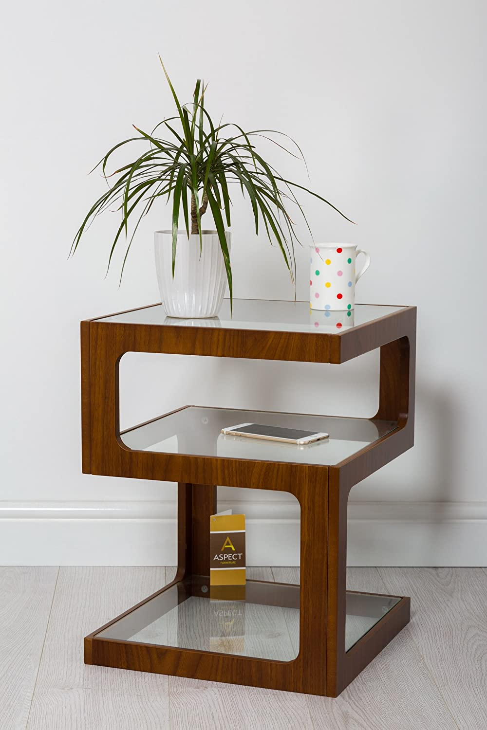 Aspect rossini triple level side tablecoffee tableend tablelamp aspect rossini triple level side tablecoffee tableend tablelamp table walnut wood amazon kitchen home aloadofball Image collections