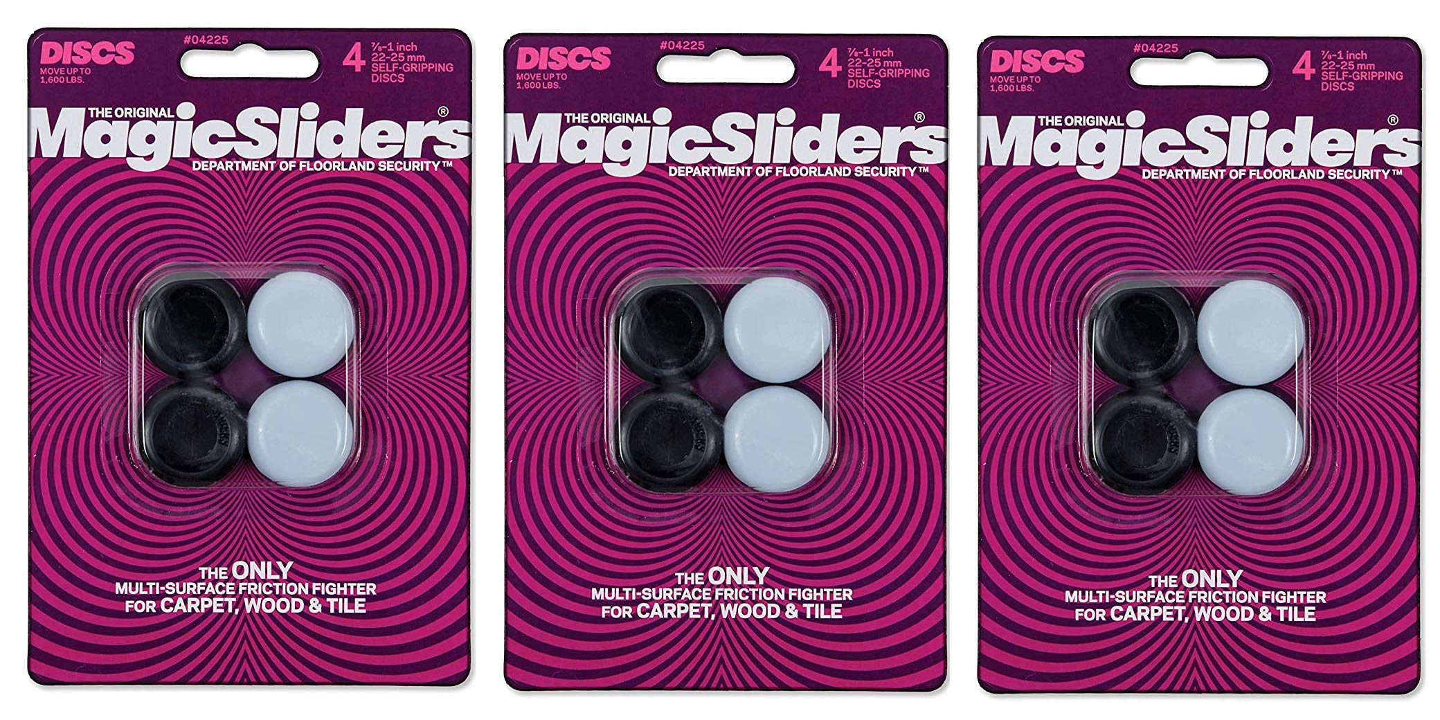 Magic Sliders L P 4225 4 Pack 7/8''-1'' RND Slider (Тhree Pаck)