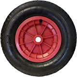 16 (4.80/4.00 - 8) Pneumatic Wheelbarrow Wheel (RED) Launching Trolley by Keto Plastics
