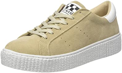 No Name Picadilly Sneaker Suede, Baskets Basses Femme, Ivoire (Latte Sole Mastic), 38 EU