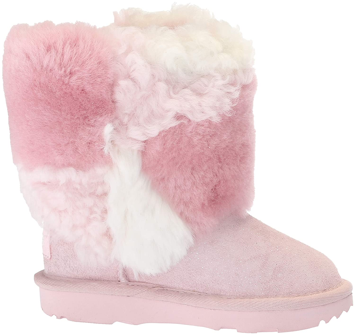 7c7ce7d1e2c UGG Kids' T Classic Short Patchwork Fluff Fashion Boot