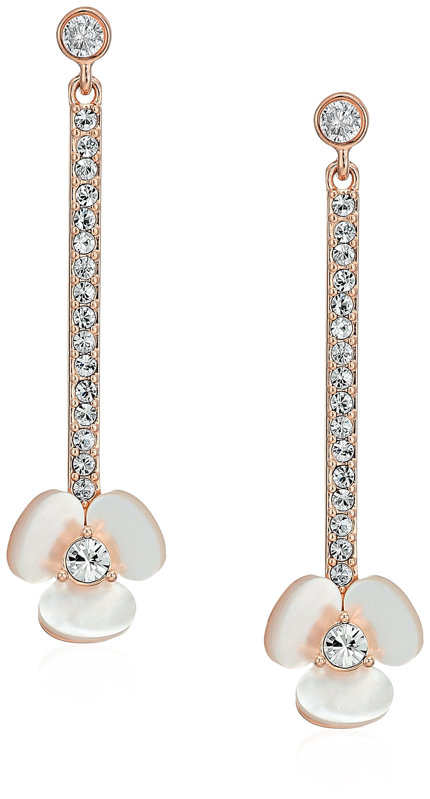 kate spade new york Disco Pansy Linear Statement Drop Earrings