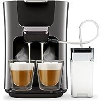 Philips HD6574/50 Kaffeepadmaschine (Senseo Latte Duo, 2 Kaffee frische Milch) titanium