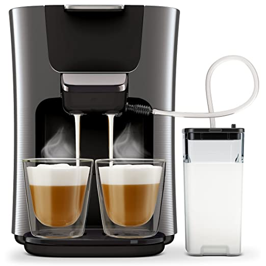 Senseo HD6574/50 - Cafetera (Independiente, Máquina de café en cápsulas, 1 L, Dosis de café, 2650 W, Negro, Titanio)