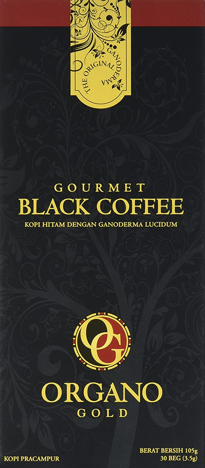 1 Box of Organo Gold Ganoderma Gourmet – Black Coffee (30 sachets) BE