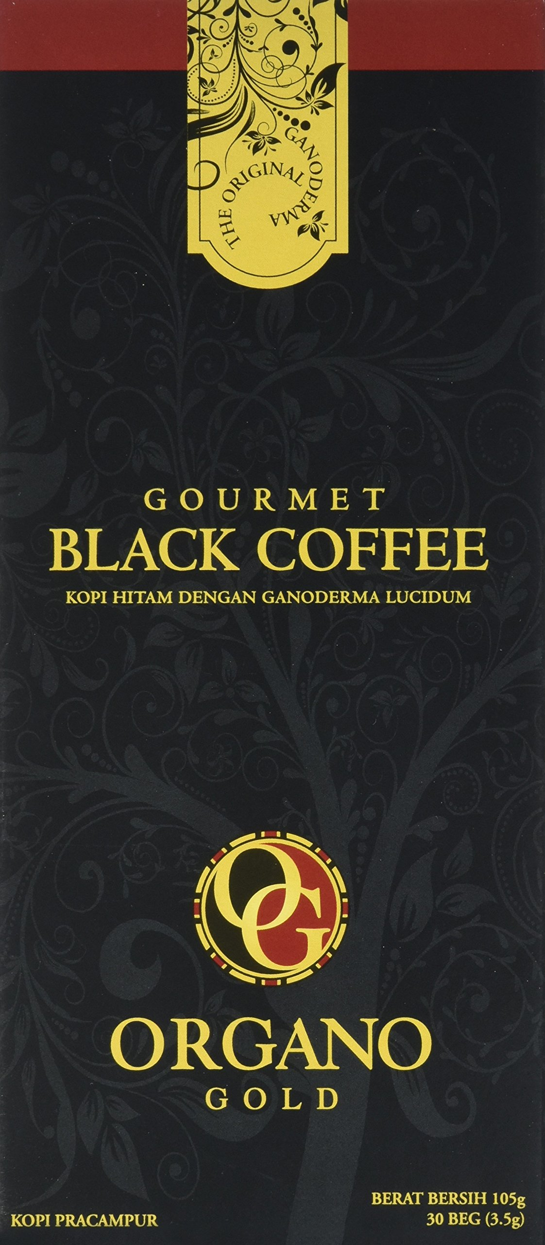 1 Box of Organo Gold Ganoderma Gourmet – Black Coffee (30 sachets)