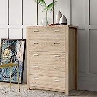 Artiss 5 Chest of Drawers Timber Tallboy Dresser - Oak