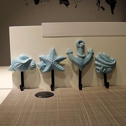 cnmdgbwy el mar conchas de cerámica viento perchero de pared ...