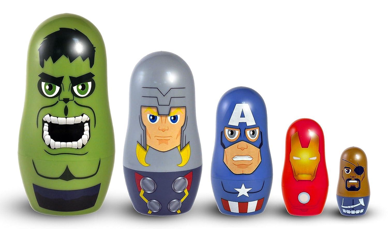 amazon com ppw marvel avengers nesting dolls toy figure toys u0026 games