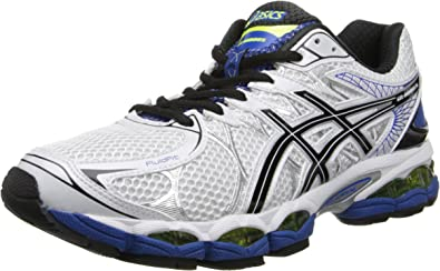 ASICS Gel-Nimbus 16-M - Zapatillas de Running para Hombre Titanium/Black/Red M, Color Blanco, Talla 41.5 EU: Amazon.es: Zapatos y complementos