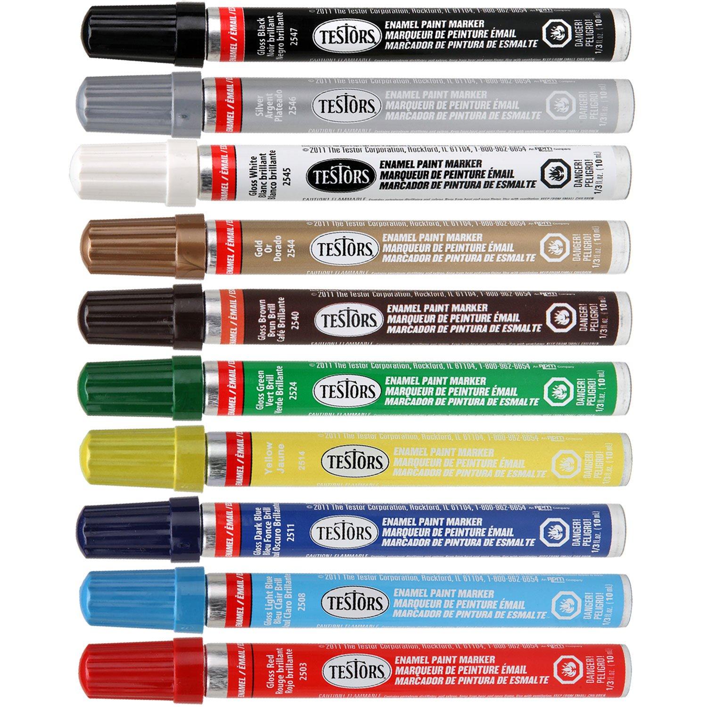 Enamel paint colors home painting com testors enamel paint markers 10 color kit office products geenschuldenfo Choice Image