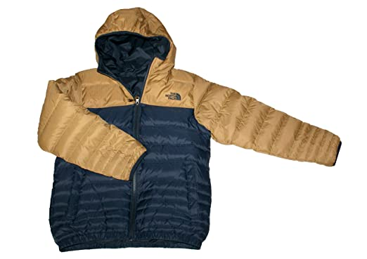 d85c6feb96b8 The North Face Youth Boys Reese Down Reversible Hooded Jacket (Urban  Navy Brown